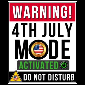Warnung 4. Juli Modus aktiviert Nicht stören
