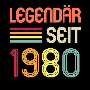 40ter Geburtstag Geschenk Legendär Seit 1980 Retro