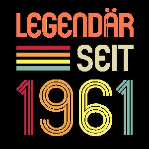 Legendär Seit 1961 59. Geburtstag Spruch Geschenk