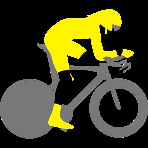 Farbe des Radfahrenzeitfahrers 3