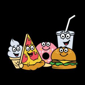 Fast Food Snacks Pizza Burger Eis Donut Limonade