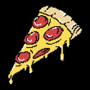 Pizza Salami 8 Bit Gamer Nerd