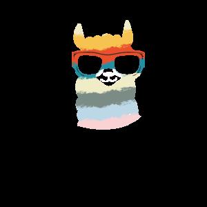 Lama Sonnenbrille Alpaca retro