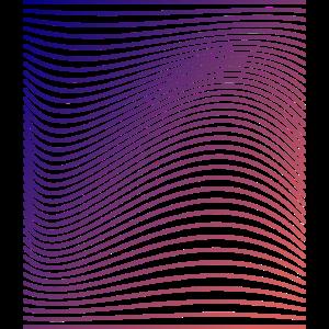 Geschwungene Linien mit Farbverlauf