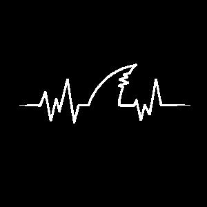 Herzschlag Haifischflosse für Hammerhai Fans