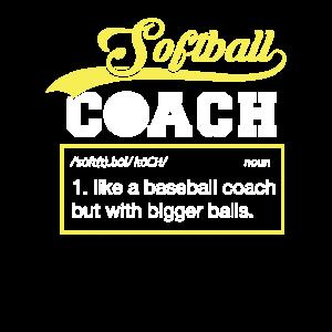 Softball Coach Definition Trainer T-Shirt