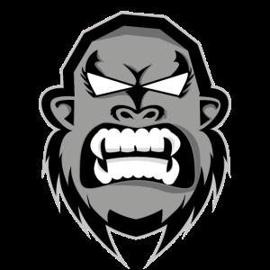 Gorilla Kopf Illustration grimmiger Gorilla Affe