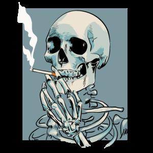 Rauchen Skelett