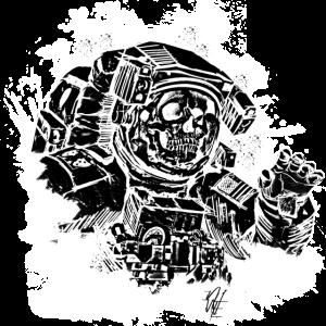 Skulltronaut black