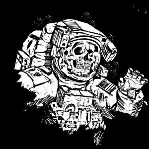 Skulltronaut - White