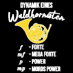 Dynamik eines Waldhornisten, Geschenk, F Horn