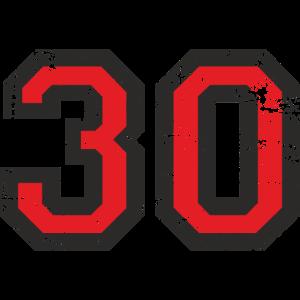 Zahl 30 Nummer Dreissig 30. Geburtstag
