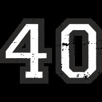 Zahl 40 Nummer Vierzig 40. Geburtstag