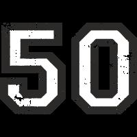Zahl 50 Nummer Fünfzig 50. Geburtstag