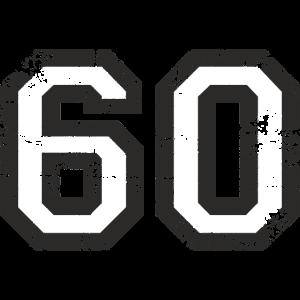 Zahl 60 Nummer Sechzig 60. Geburtstag