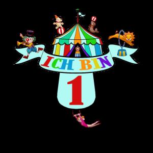 Kindergeburtstag Clown Shirt zum 1. Geburtstag