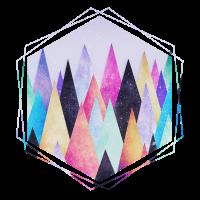 Hipster Dreieck (Geometrie) Abstrakte Berge Design