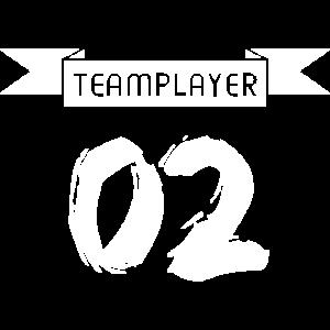Team Teamwork Teamplayer 02 Spieler Nummer Zwei