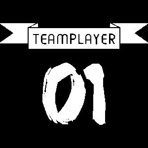 Team Teamwork Teamplayer 01 Spieler Nummer Eins