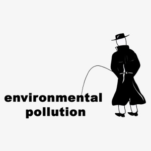 Pissing Man against Environmental Pollution