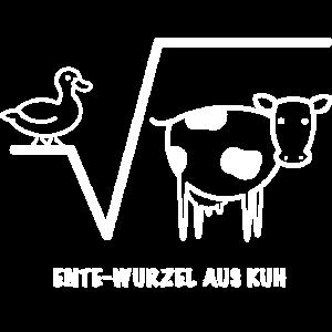 Mathe lustig Ente Wurzel aus Kuh Geschenk