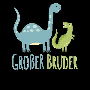 Grosser Bruder Dino Trex T-Shirt Geschenk Idee