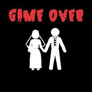 Hochzeit Brautpaar Game Over Braut Bräutigam