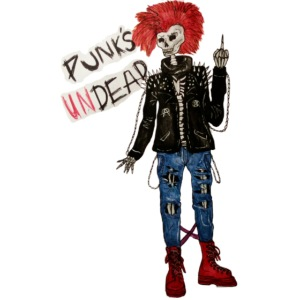 PUNK'S UNDEAD skeleton drawing