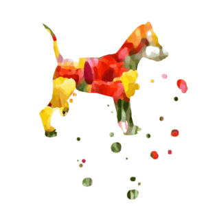 bunter Pastell Hund