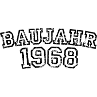 Baujahr 1968 Geburtstag Vintage Design (Weiß)