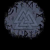 Valknut Wikinger Germanen Knoten Symbol Runen