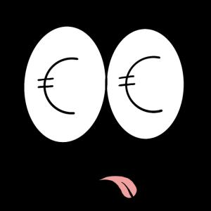 Geld - Comic - Gesicht