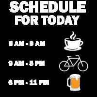 Tagesplan Geschnk Idee Fahrrad Bier Kaffee