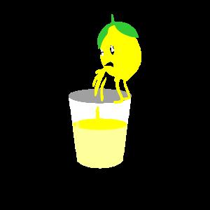 Kotzende Zitrone Kotzen Erbrechen Speien Spucken