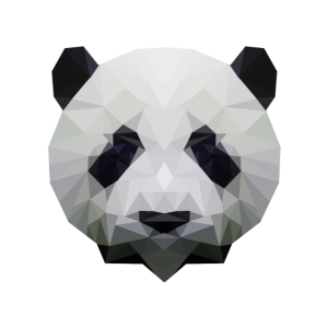 Panda Geometrisch
