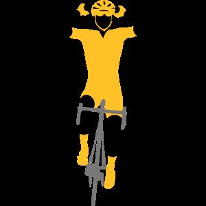 gewinnender Radfahrer 3 Farben