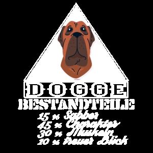 Dogge Bestandteile,Hund Humor Hunde Shirt,funny