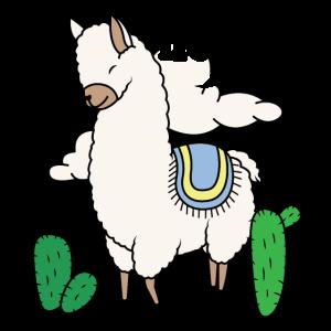 Hola Alpaca Hi Hallo Alpaka süßes lustiges Lama