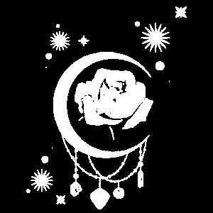 Occult Vintage Moon Rose - Witchcraft Okkult