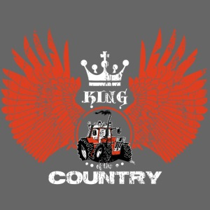 WINGS King of the country wit rood op zwart