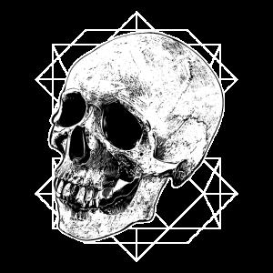 Totenkopf Geometrie Knochen