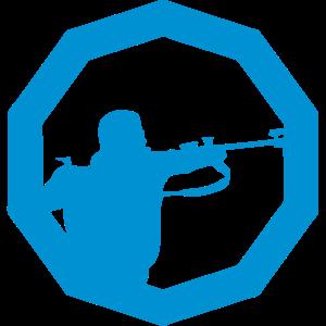 Biathlon Logo geschossen stehend 3