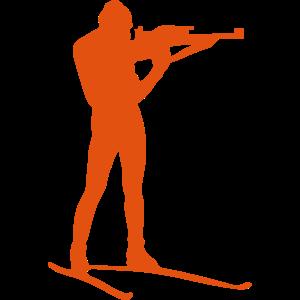 Biathlonschießen stehende Silhouette