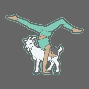Ziegen Yoga