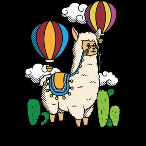 Love Alpaca Liebe Alpaka Lama Heißluftballon