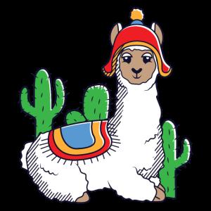 lustiges süßes cooles Alpaka Lama Kaktus Beanie