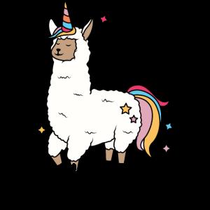 Alpaca Unicorn Born to be a Unicorn Einhorn Lama