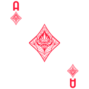 Kartenspiel Karte Karo As tshirt Skat Poker Karte