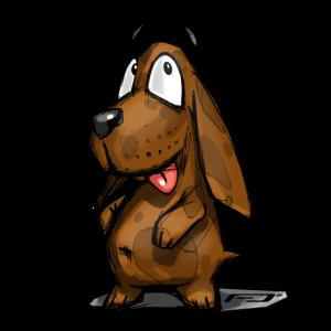 kleiner süßer Hund - little cute dog Geschenk gift