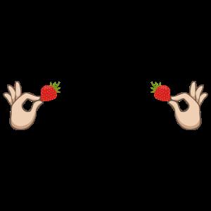 Nippel Brueste Strawberry Geschenk